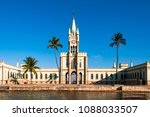 fiscal island with historical... | Shutterstock . vector #1088033507