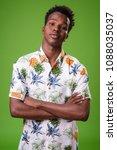 studio shot of young african... | Shutterstock . vector #1088035037