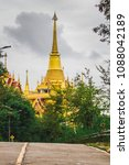 Small photo of The entrance to the temple is a place of Buddhist worship, arena makes the mind peaceful and public places as a tourist province of Nakhon sawan , Thailand.