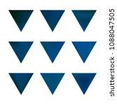 vector gradient reverse... | Shutterstock .eps vector #1088047505