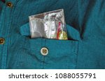 in the pocket of the shirt  a... | Shutterstock . vector #1088055791