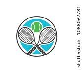 double racket tennis sport... | Shutterstock .eps vector #1088062781