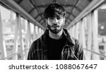 portrait of young handsome...   Shutterstock . vector #1088067647