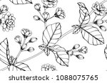 seamless flower pattern... | Shutterstock .eps vector #1088075765