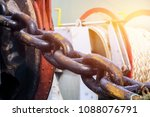 big chain anchor winch on a... | Shutterstock . vector #1088076791