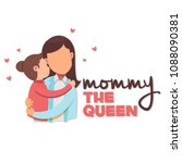 mommy the queen mom hold baby... | Shutterstock .eps vector #1088090381