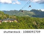 tourists on the zip line at... | Shutterstock . vector #1088092709