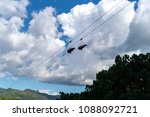 tourists on the zip line at... | Shutterstock . vector #1088092721