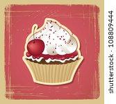 vector illustration of cupcake... | Shutterstock .eps vector #108809444