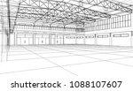 interior sketch. vector... | Shutterstock .eps vector #1088107607