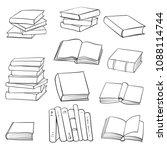 vector set of drawing books ... | Shutterstock .eps vector #1088114744