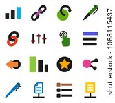 solid vector icon set   pen...