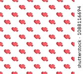 seamless pattern from hearts on ... | Shutterstock .eps vector #1088116694