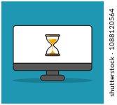 hour glass sand timer on...   Shutterstock .eps vector #1088120564