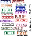 stamp collection   vector design | Shutterstock .eps vector #10881265