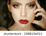 beauty model with glamour look  ...   Shutterstock . vector #1088136311