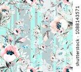 seamless pattern of a spring... | Shutterstock . vector #1088143571