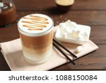 glass with delicious caramel... | Shutterstock . vector #1088150084