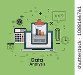 data analysis concept | Shutterstock .eps vector #1088166761