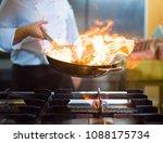 Chef Cooking Doing Flambe Food - Fine Art prints