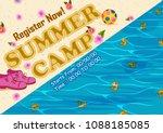 children summer camp poster... | Shutterstock .eps vector #1088185085