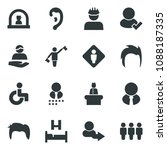 black vector icon set... | Shutterstock .eps vector #1088187335