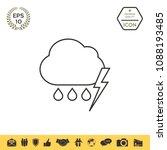 cloud thunderstorm lightning... | Shutterstock .eps vector #1088193485