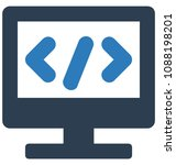 html codetwo colors glyph... | Shutterstock .eps vector #1088198201