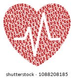 cardiology composition of... | Shutterstock .eps vector #1088208185