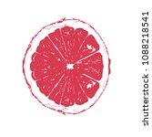 sliced juicy grapefuit | Shutterstock .eps vector #1088218541