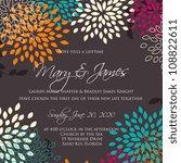 wedding card or invitation... | Shutterstock .eps vector #108822611