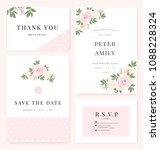 vector template set. wedding... | Shutterstock .eps vector #1088228324