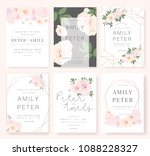 vector template set. wedding... | Shutterstock .eps vector #1088228327