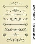 vintage design elements | Shutterstock .eps vector #108823025