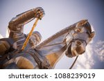 genghis khan monument at zonjin ... | Shutterstock . vector #1088239019
