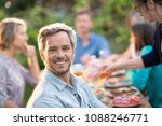 looking at the camera  a man in ... | Shutterstock . vector #1088246771