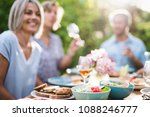 focus on a colored salad in a... | Shutterstock . vector #1088246777