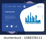 quality one page metropolis... | Shutterstock .eps vector #1088258111
