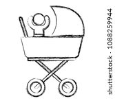 baby in cart isolated icon | Shutterstock .eps vector #1088259944
