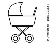 baby cart isolated icon   Shutterstock .eps vector #1088261657