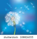 dandelion on blue sky background | Shutterstock .eps vector #108826355