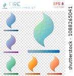 fire geometric polygonal icons  ... | Shutterstock .eps vector #1088265041