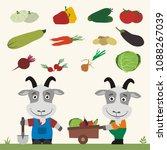 set of isolated vegetables ... | Shutterstock .eps vector #1088267039