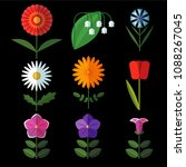 flowers of various kinds ... | Shutterstock .eps vector #1088267045