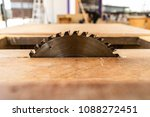 Small photo of Table saw cutting wood