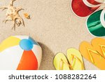 flat lay with colorful flip... | Shutterstock . vector #1088282264