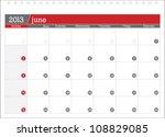 june 2013 planning calendar | Shutterstock .eps vector #108829085