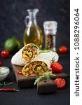 burritos wraps with beef and... | Shutterstock . vector #1088296064
