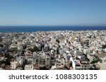 drone aerial view on heraklion  ... | Shutterstock . vector #1088303135