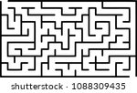 labyrinth of medium complexity. ... | Shutterstock .eps vector #1088309435